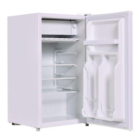 Frost Fridge Freezer - Costway Stainless Steel Refrigerator Small Freezer Cooler Fridge Compact 3.2 cu ft. Unit