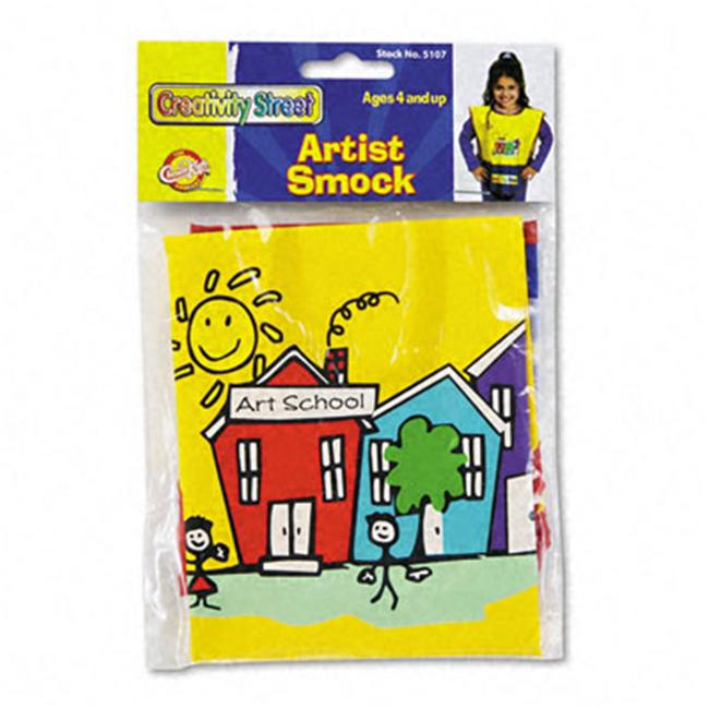 THE CHENILLE KRAFT COMPANY                         Kraft Artist Smock, Fits Kids Ages 3-8, Vinyl, Bright Colors