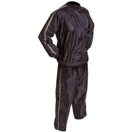 GoFit Extreme Sauna Suit, 2-Piece, Black