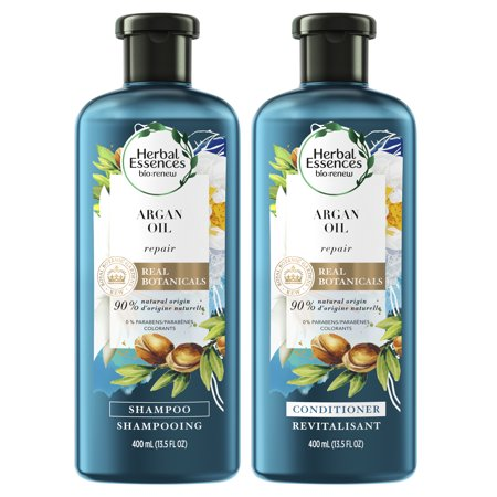 Herbal Essences Bio:renew Argan Oil of Morocco Shampoo and Conditioner Bundle Pack, 13.5 Fluid Ounces Each (Pack of (Best All Natural Shampoo And Conditioner)