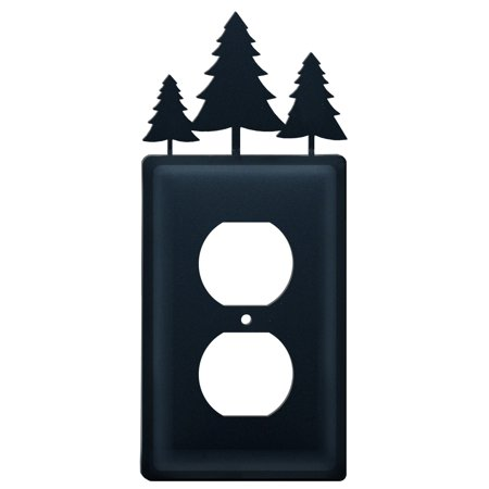 Village Wrought Iron EO-20 Pine Trees - Single Outlet Cover ()