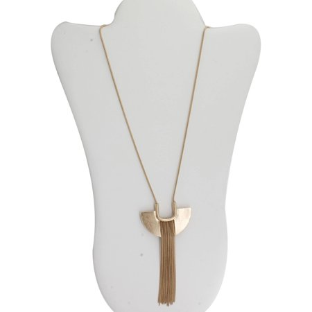 "Gold-Tone Fringe Pendant Necklace, 24"" with 3"" Extender"