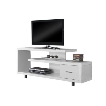 Monarch Tv Stand White With 1 Drawer For Tvs Up To 47 L