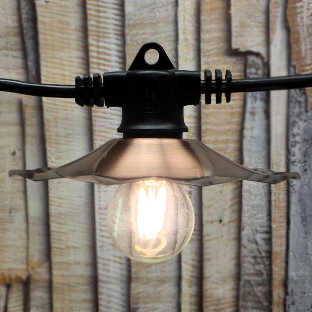 American Lighting LED Vintage Cafe String Lights - Copper...