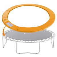 ExacMe Trampoline Replacement Safety Pad Round Spring Cover, No Hole for Pole, 16 FT Orange