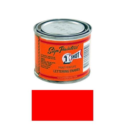 1/4 Pint 1 Shot FLOURESCENT RED Paint Lettering Enamel Pinstriping & Graphic Art