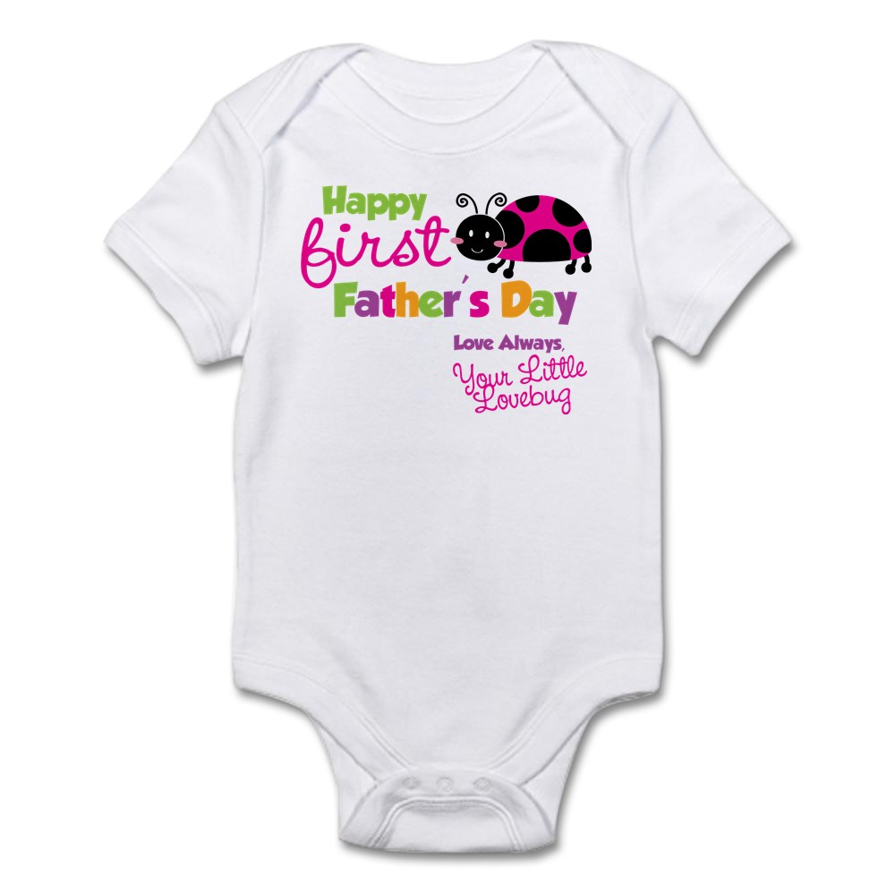 CafePress - Ladybug 1St Fathers Day Infant Bodysuit - Baby Light Bodysuit