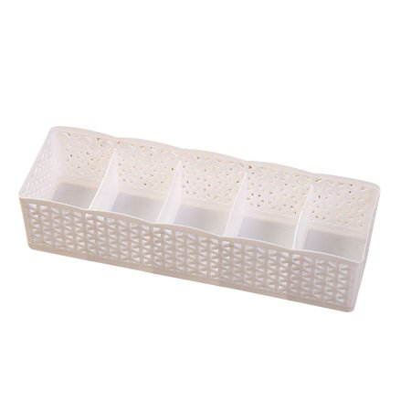Ment Box - 5 Grids Wardrobe Storage Box Basket Organizer Women Men Socks Bra Underwear Storage Box PP Container Organizer