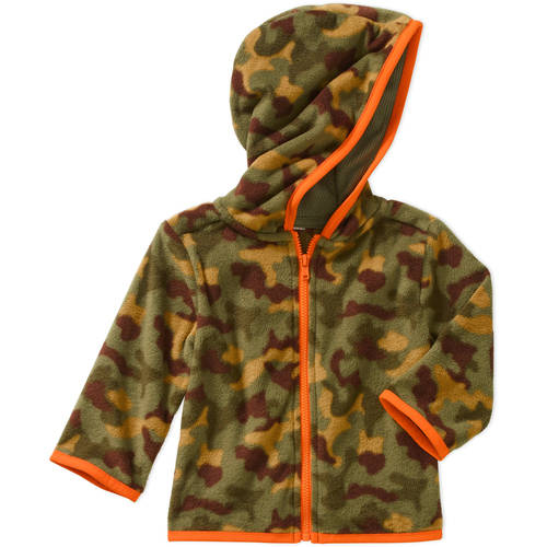 Garanimals Newborn Baby Boys' Print Micro Fleece Hoodie