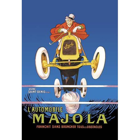 f4dc945de9c Majola was a French producer of engines and automobiles established in 1908  and producing automobiles from 1911 till 1928 Poster Print by Mich -  Walmart.com