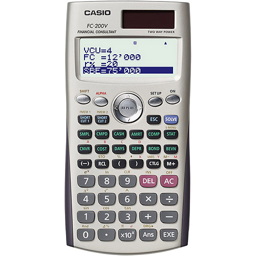 Casio Financial Calculator  WalmartCom