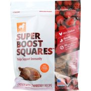 Dogswell Super Boost Squares Grain-Free Chicken with Cranberry Recipe Dry Dog Treat, 5 oz