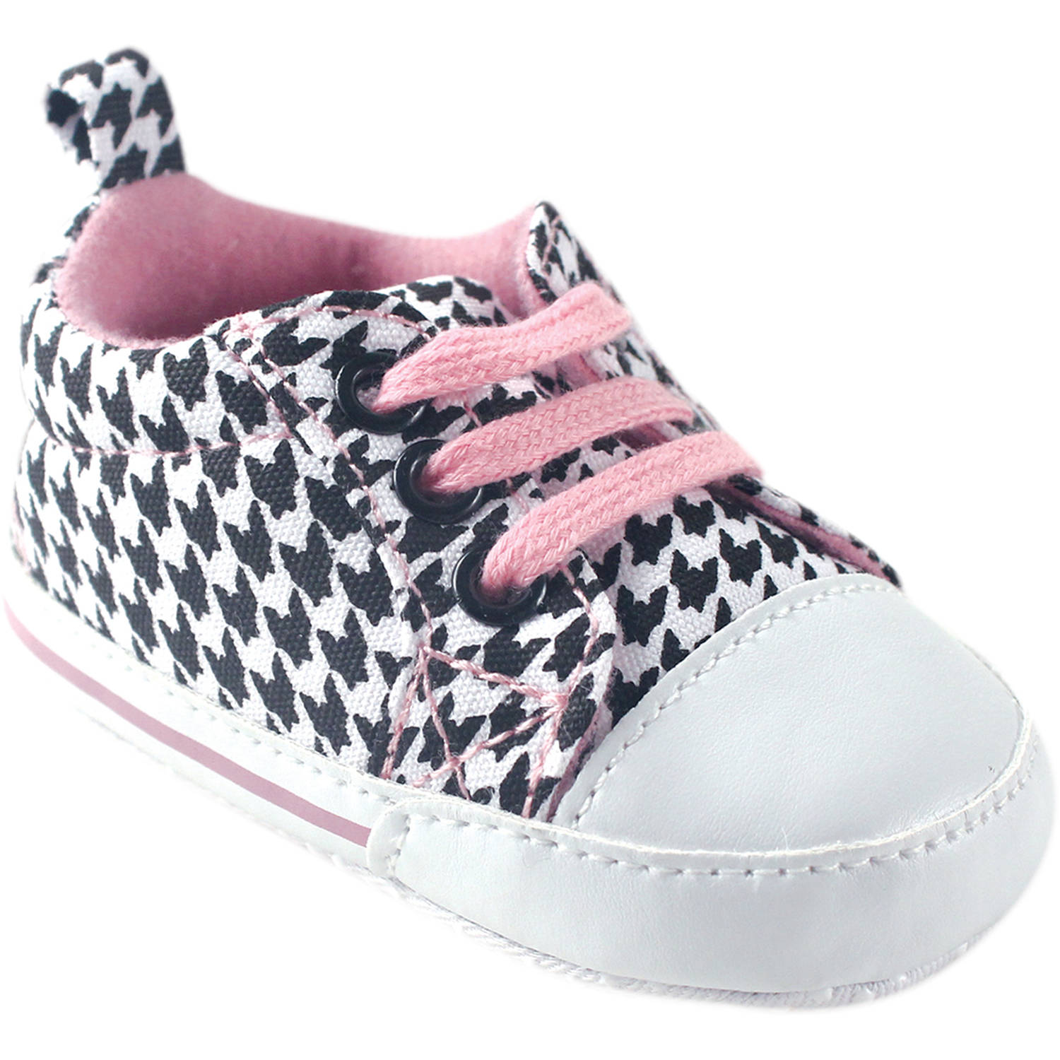 Luvable Friends Newborn Baby Girl Basic Canvas Sneakers