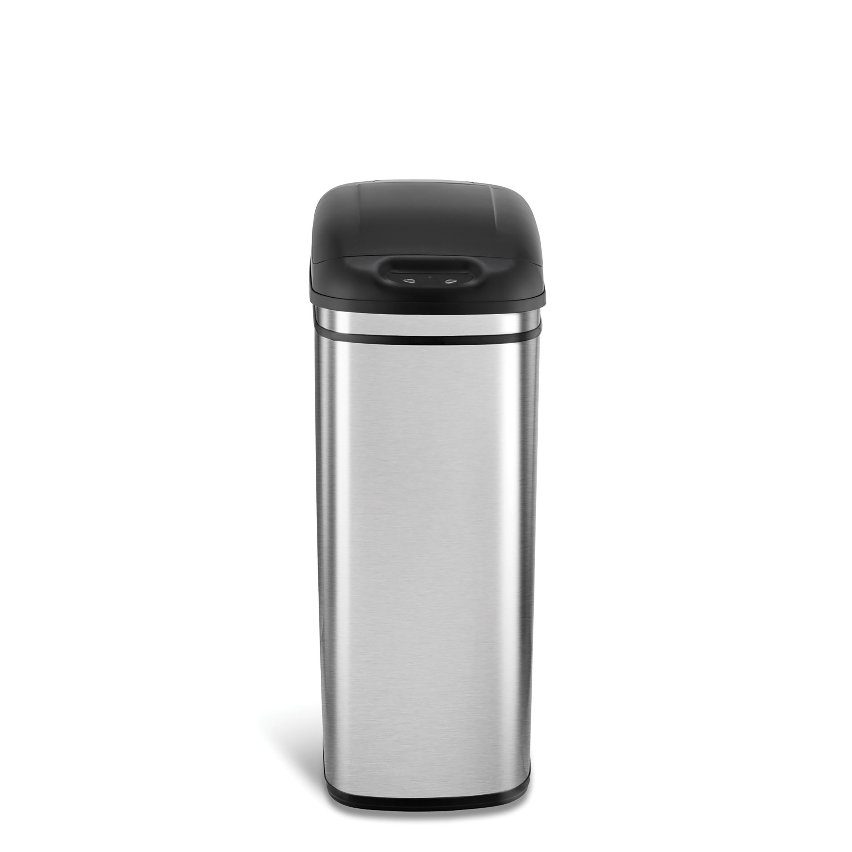 Nine Stars Motion Sensor Slim Touchless 11-Gallon Trash Can, Stainless Steel