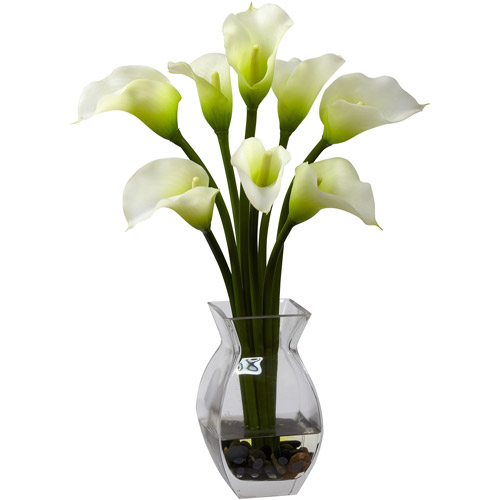 Nearly Natural Classic Calla Lily Arrangement, Cream