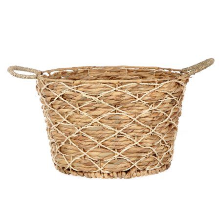 Better Homes & Gardens Round Natural Palm Basket ()