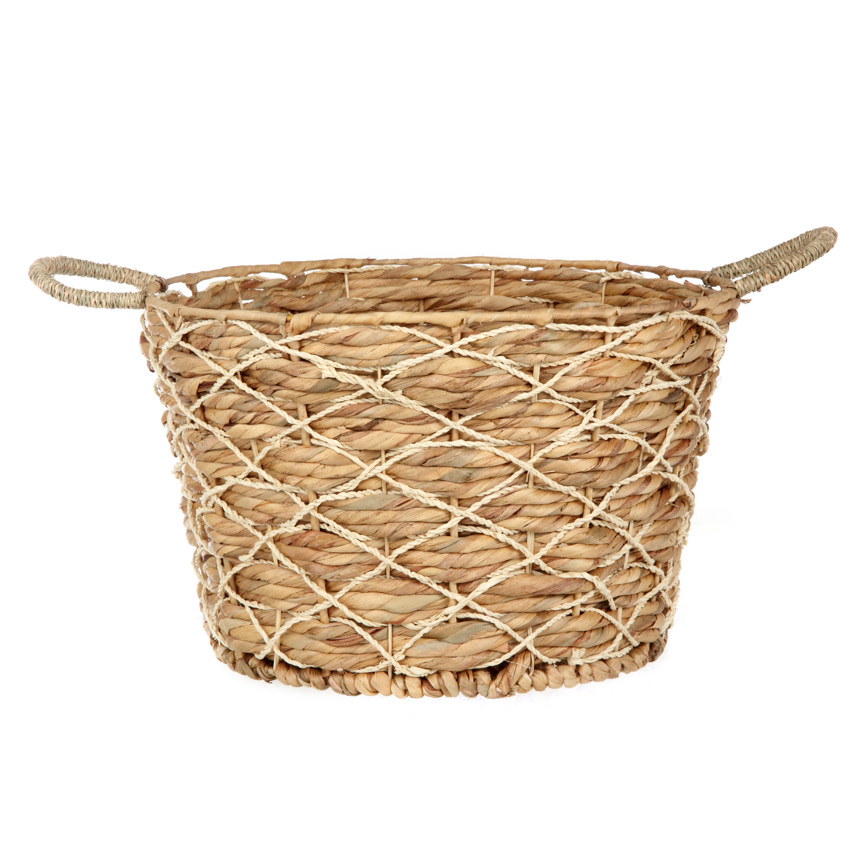 Better Homes & Gardens Round Natural Palm Basket