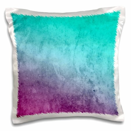 3dRose Turquoise, Purple, Pink Watercolor Background - Pillow Case, 16 by - Pink Pillow