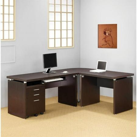Coaster company extension desk cappuccino for Al amwaj furniture decoration factory