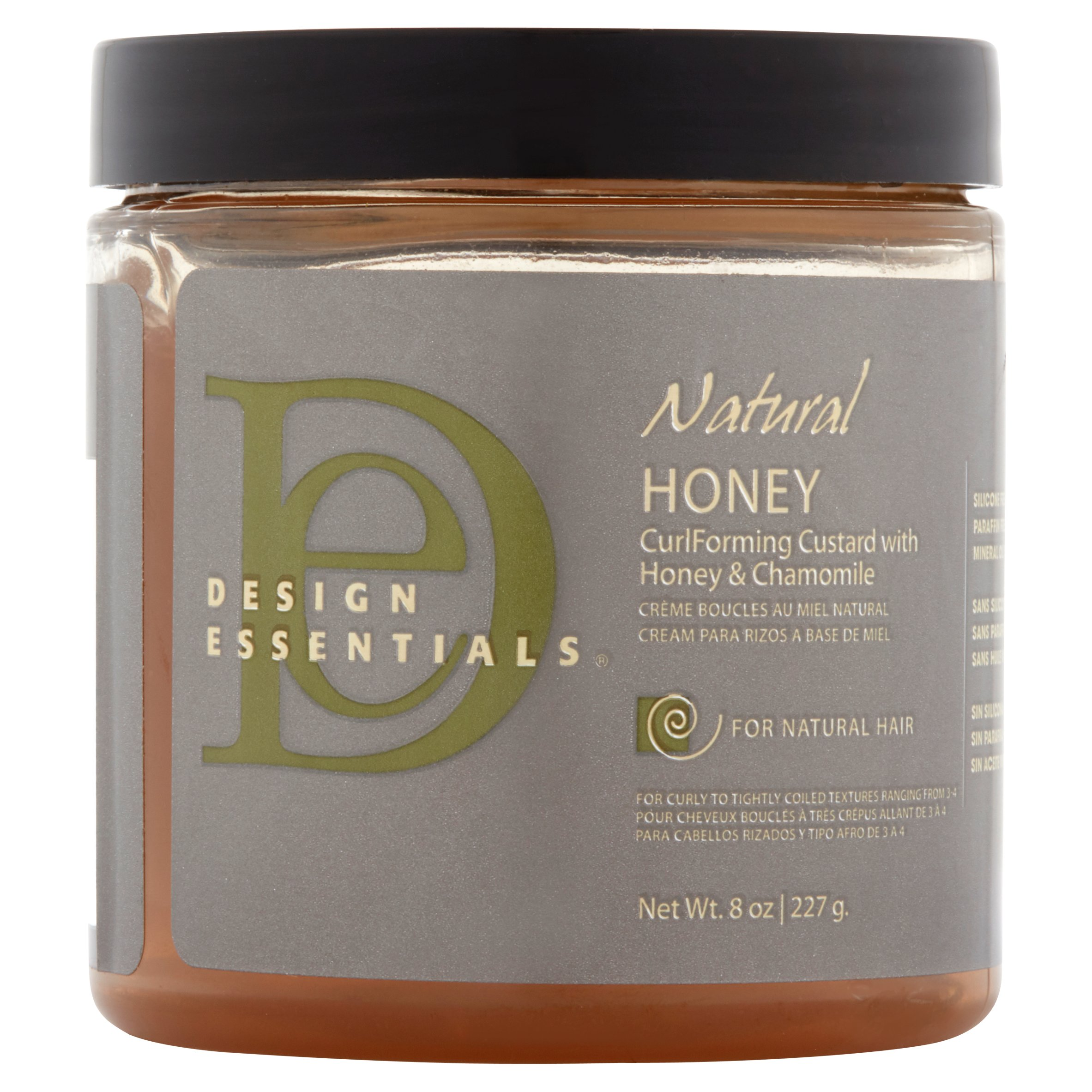 Design Essentials Natural Honey Curl Forming Custard with Honey & Chamomile for Natural Hair, 8.0 OZ
