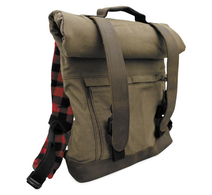 Burly Brand Voyager Back Pack Brown   B15-1020D