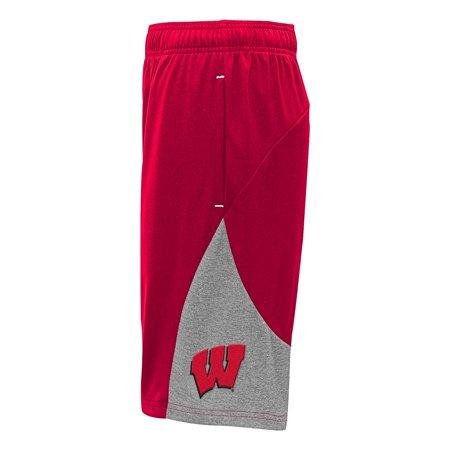 Wisconsin Badgers Shorts (NCAA Wisconsin Badgers Boys Twist Shorts, Medium (10-12), Dark)