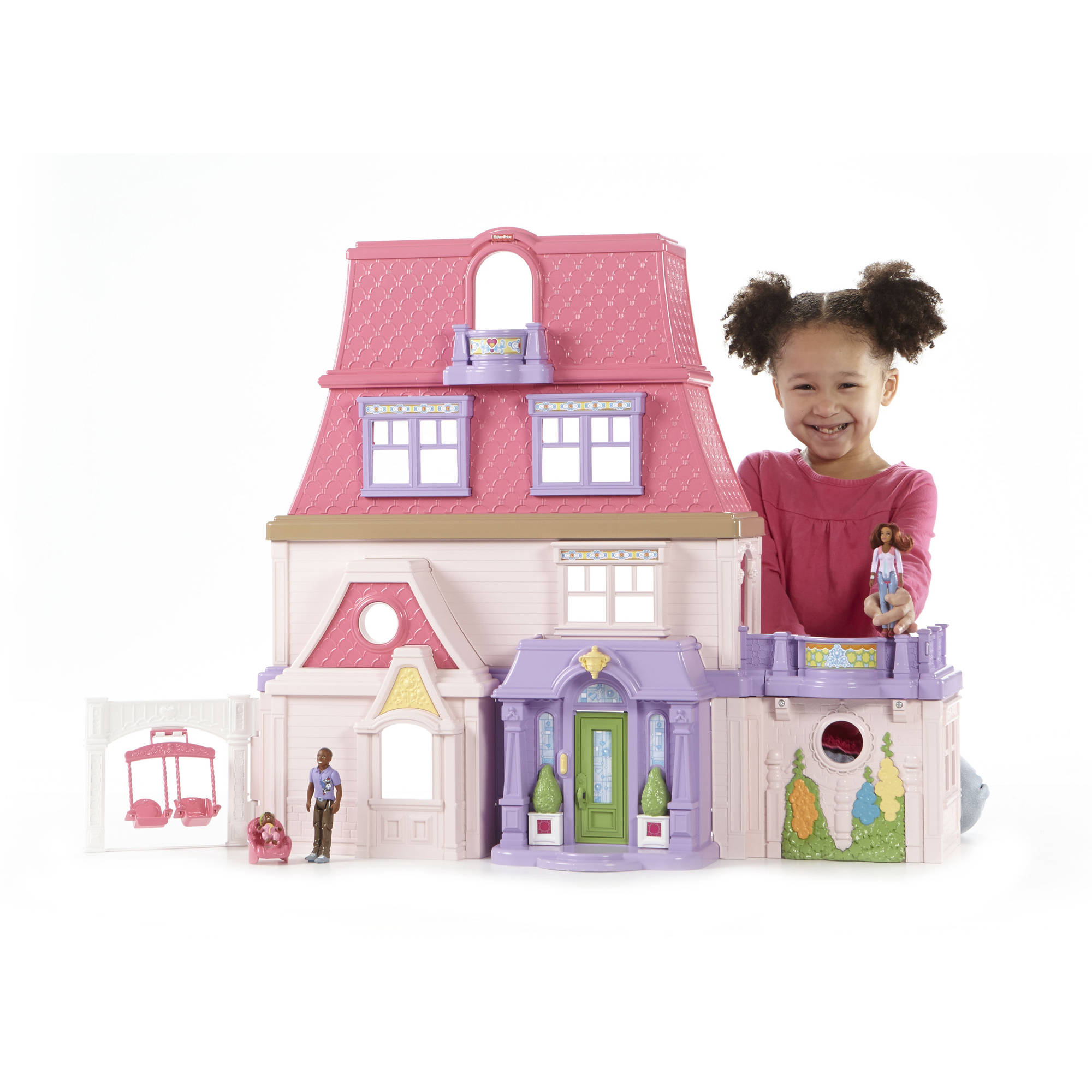 Fisher-Price Loving Family Dollhouse - African American Multi-Colored