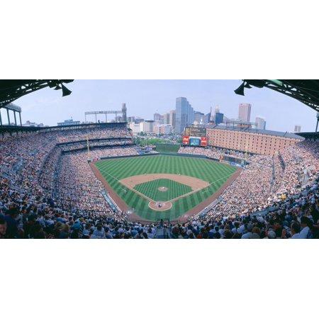 Baltimore Orioles Camden Yards - Camden Yard Stadium, Baltimore, Orioles V. Rangers, Maryland Print Wall Art