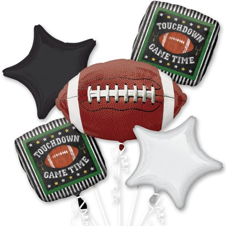 Football Foil Balloon Bouquet](Football Balloons)