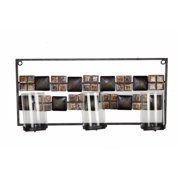 Patterned Home Decor With Three Candle Stands, Brown