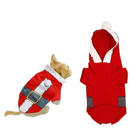 Pet Dog Clothes Christmas Cloth Costume Dress Cute Cartoon Santa Claus Small Dog Pet T-Shirt Clothing Xmas Apparel