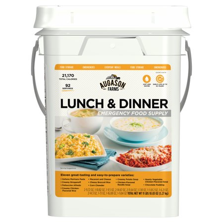 Augason Farms Lunch & Dinner Emergency Food Supply Storage Pail, 11.03 lbs