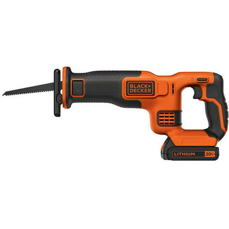 Corded Cordless Reciprocating Saw - BLACK+DECKER 20V Max Cordless Recip Saw, Bdcr20C