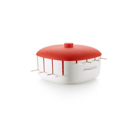 Kabob Cooker, Red, basket Easy MakerCooker 3402700R10U008 Recipe Breasts Steamer Its your Bacon Full 110 Best 52 98 evenly Marinades Grill Marinade.., By Lekue Ship from