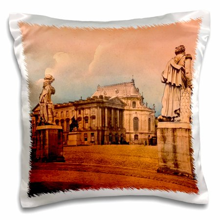 - 3dRose Vintage Versailles Palace Paris French History Royalty France - Pillow Case, 16 by 16-inch