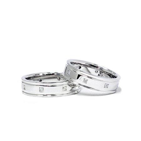 30d41d6a3 Pompeii3 - 1/2ct Princess Cut Diamond Matching Wedding Ring Set -  Walmart.com