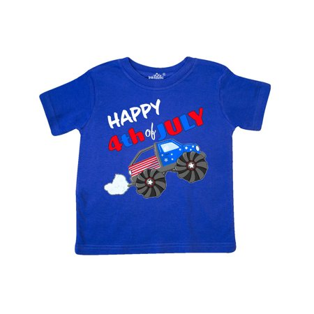 Happy Fourth of July Monster Truck Toddler T-Shirt - 4th Of July Crafts For Toddlers