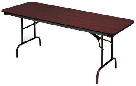 iceberg rectangle folding table 30 d x 72 w x 29 h mahogany 55224. Black Bedroom Furniture Sets. Home Design Ideas