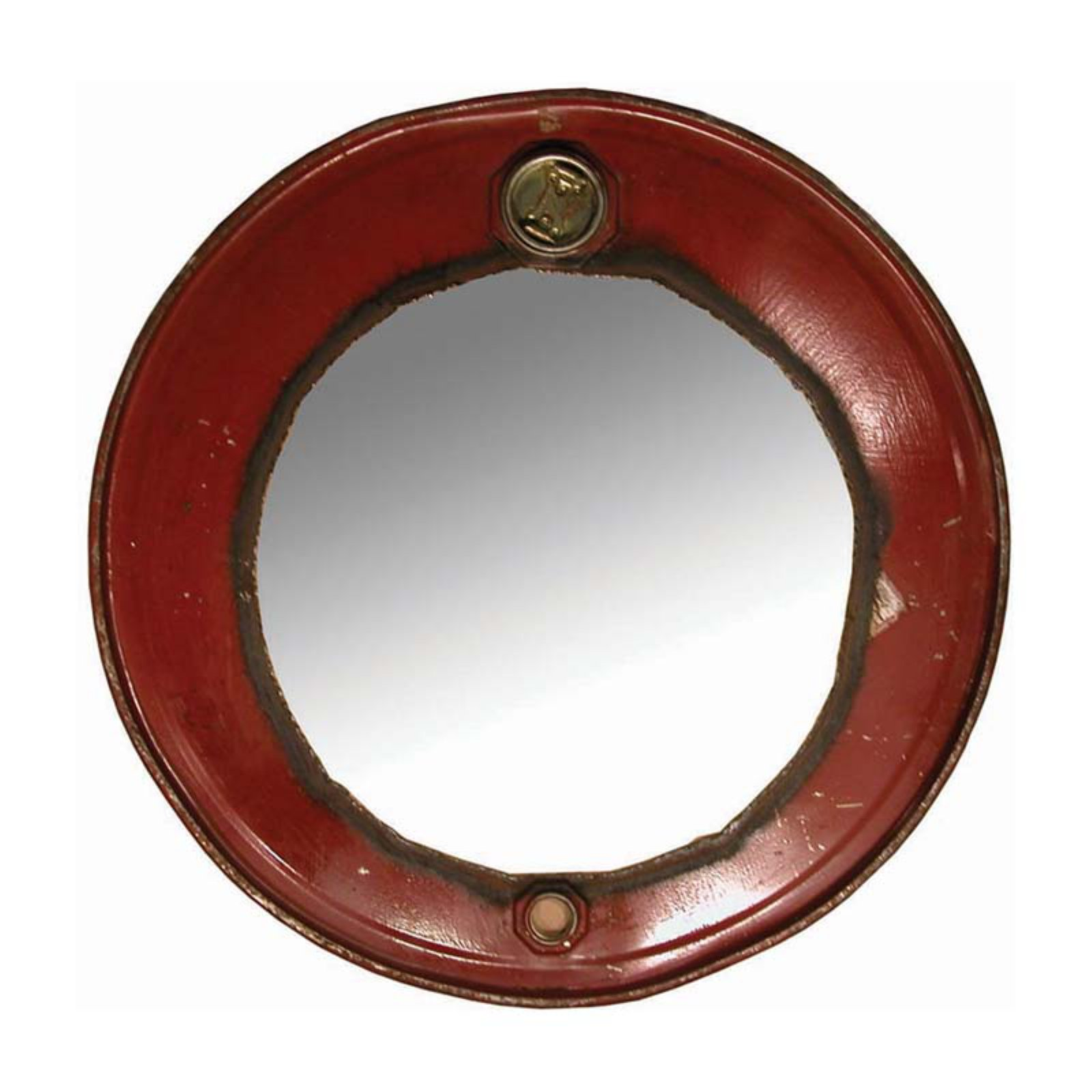 Ruby Steam Punk Barrel Wall Mirror - 23W x 23H in.