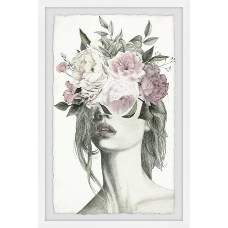 Marmont Hill Smokey Flower Crown Framed Wall Art - Flower Hill Mall Halloween