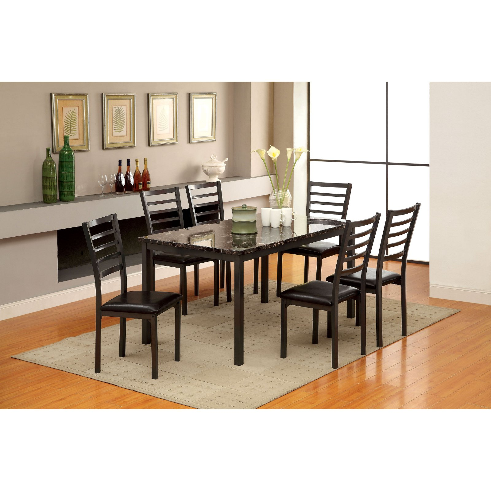 Furniture of America Katzman 60 in. Dining Table