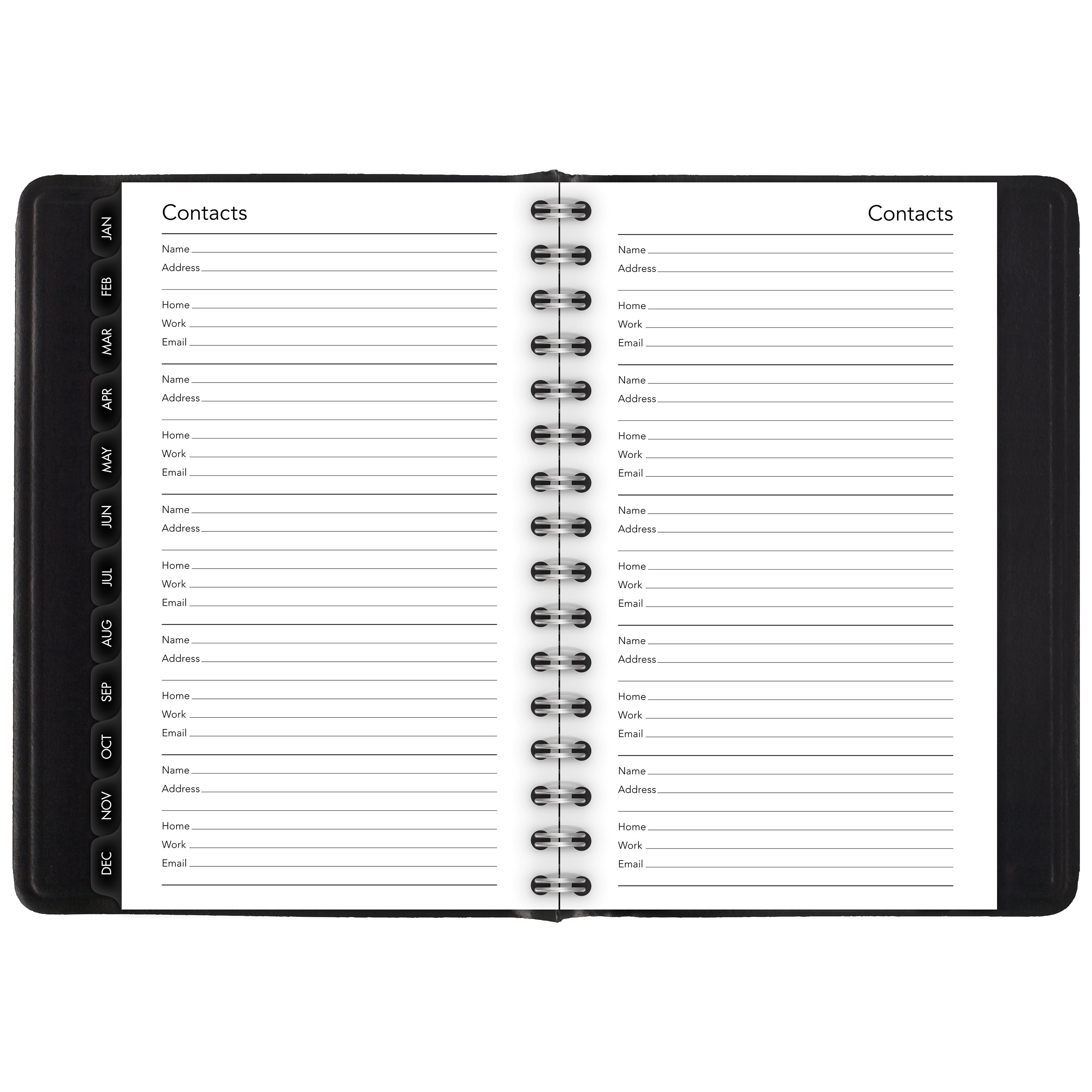 """2018 Mead Cambridge Daily/Monthly Appointment Book/Planner, 12 Months, January Start, Concealed Wirebound, 4 5/8"""" x 8"""", Black"""
