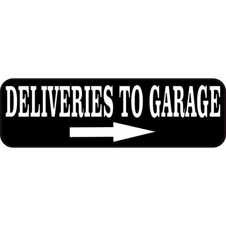 10in x 3in Deliveries to Garage Vinyl Business Magnet Delivery - Garage Door Magnets Halloween