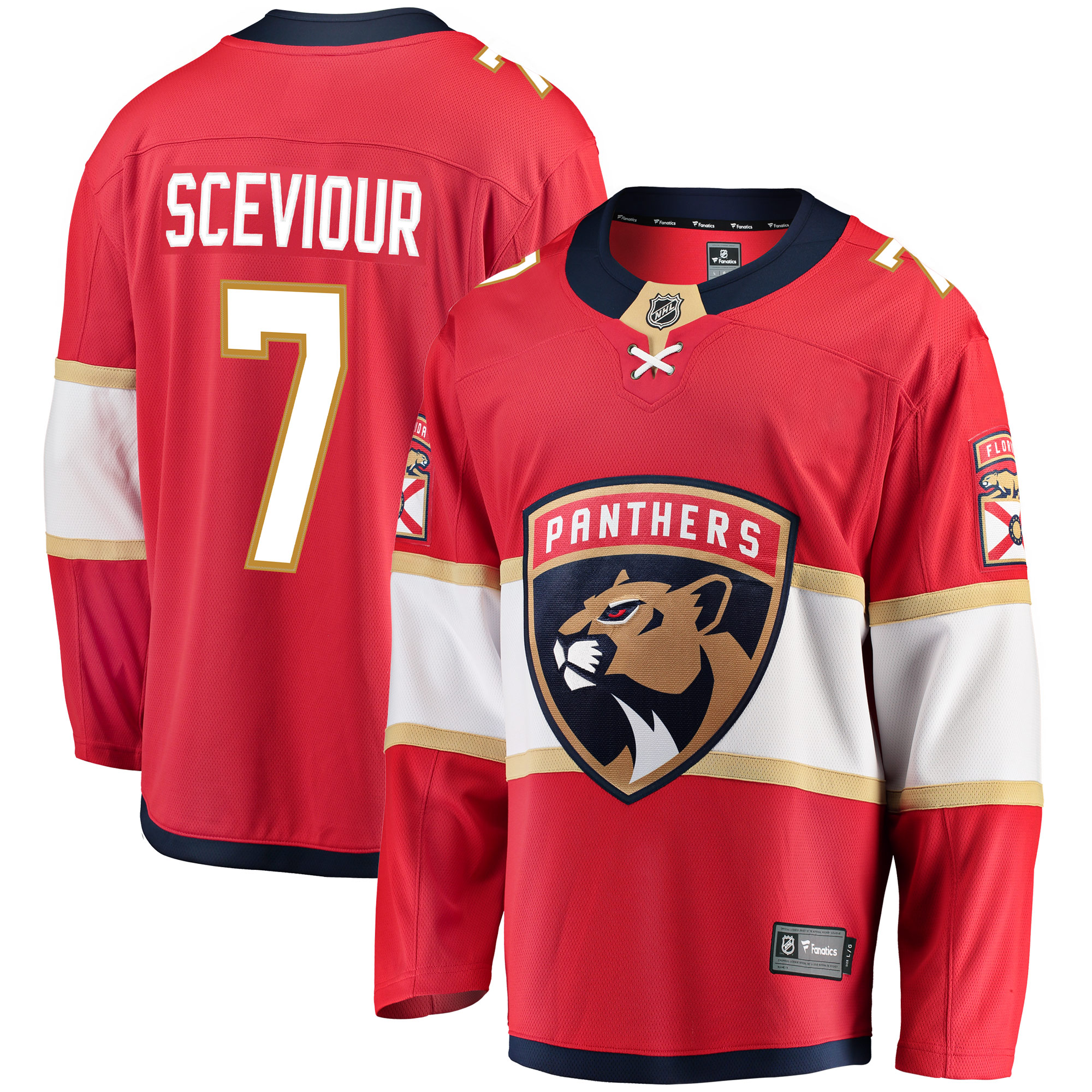 Colton Sceviour Florida Panthers Fanatics Branded Breakaway Jersey - Red