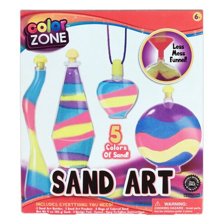 Sand Art Bottle Craft Kit - 12pc Set Makes 4 Projects - Great Gift Idea for Kids - Craft Ideas For Mother's Day