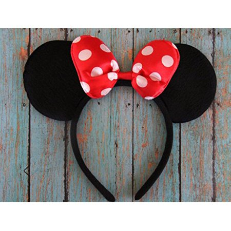Disney Inspried Red Minnie Mouse Headband, Minnie Mouse Party, Minnie Mouse, Disney Ears, Disneyland Ears, Disney Accessories, - Minnie Mouse Ears Diy