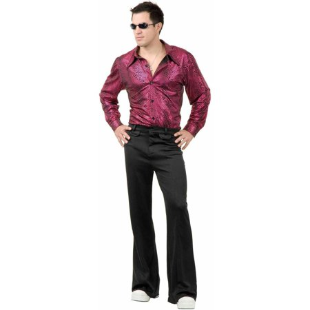 Disco Shirt Liquid Red and Black Men's Adult Halloween Costume - Disco Shoes For Men