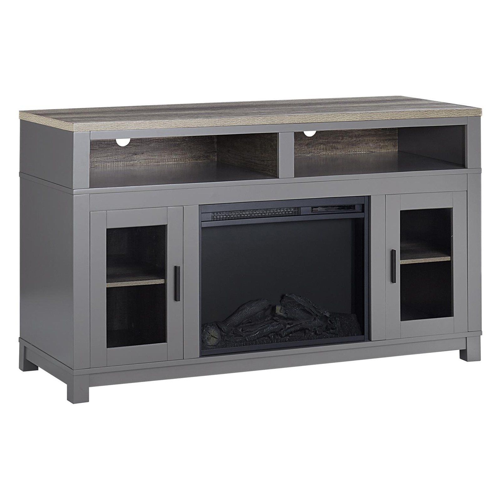 """Ameriwood Home Carver Fireplace TV Stand up to 60"""" Multiple Colors"""