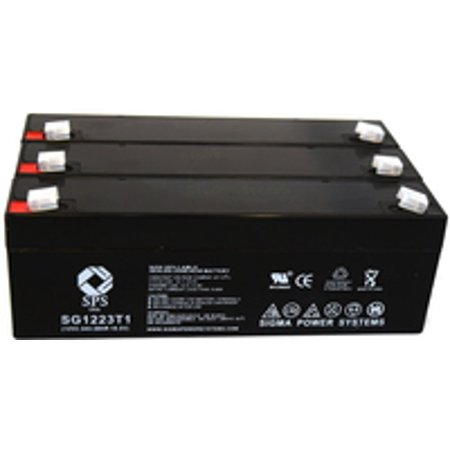 Sps Brand 12V 2 3 Ah Replacement Battery  For Micro Medical Ltd Transpacer  3 Pack