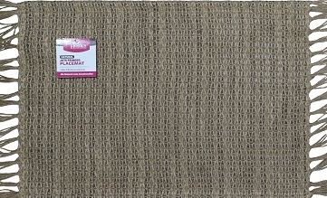 Better Homes and Gardens Natural Fringed Jute Placemat by Generic